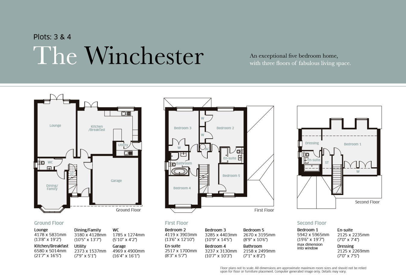 5 Bedroom Detached House For Sale In Plot 3 The Winchester